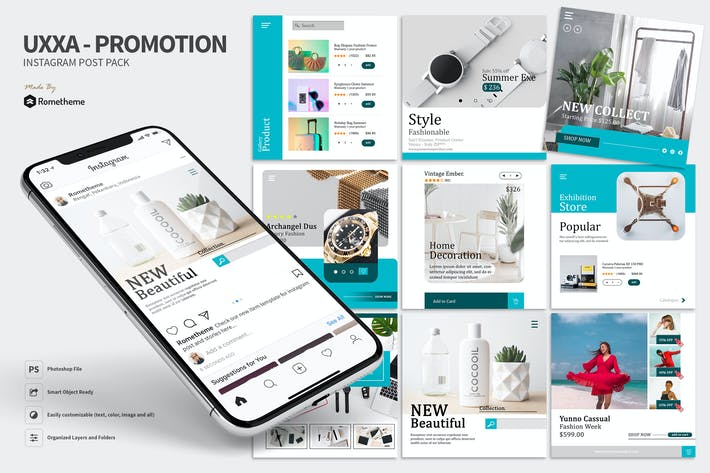 Thumbnail for UXXA - Product Promotion Instagram Post Pack HR