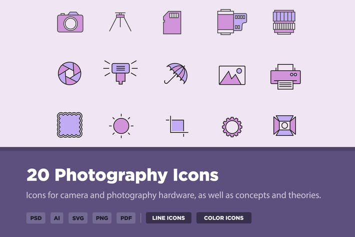 Thumbnail for 20 Photography Icons