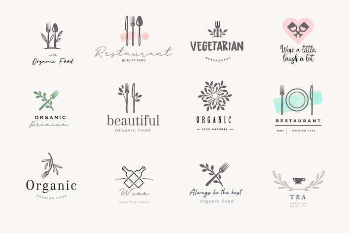 Набор знаков для еды и напитков