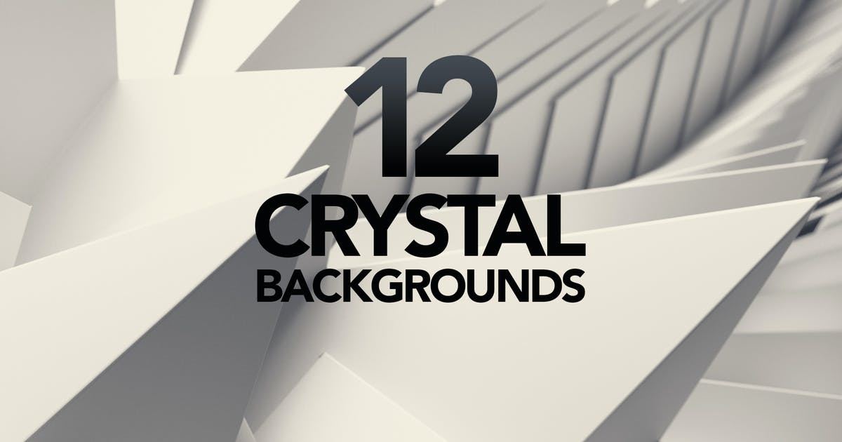 12 3D Crystal White Triangle Backgrounds by gaidukdesign