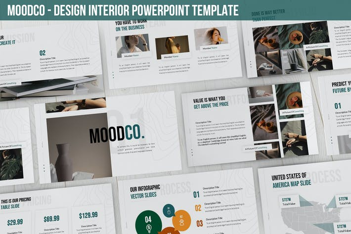 Thumbnail for Moodco - Design Interior Powerpoint Template