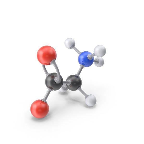Thumbnail for Glycine (Zwitterion) Molecule