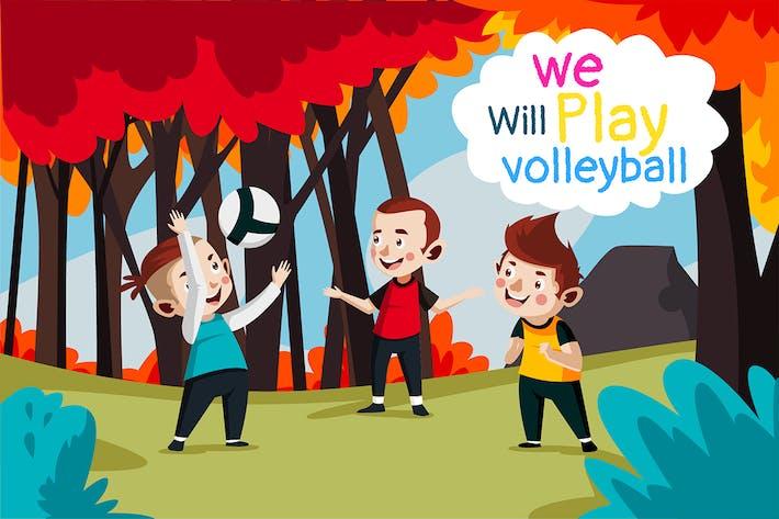 Thumbnail for spielen Voleyball - Illustration