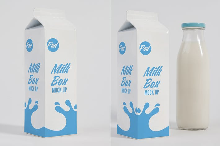 Thumbnail for Milk Box and Glass Mock Up