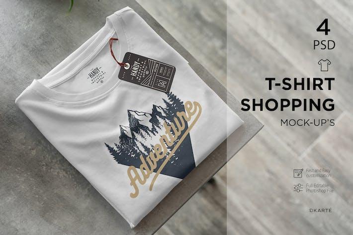 Thumbnail for T-Shirt Shopping Mock-Up