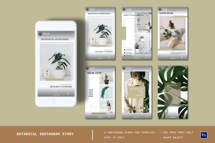 Botanical Instagram Story