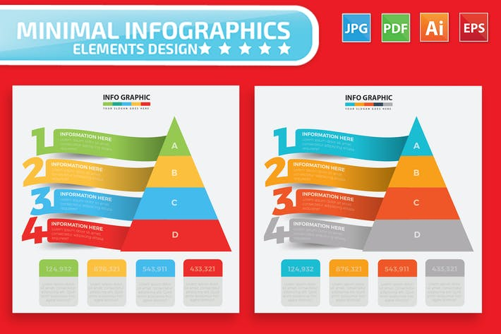 Thumbnail for Pyramid Infographic Elements Design