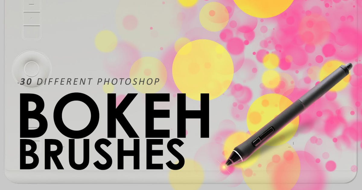 Download 30 Bokeh Photoshop Brushes by M-e-f