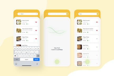 AI Search in Food Delivery Mobile UI Kit nft