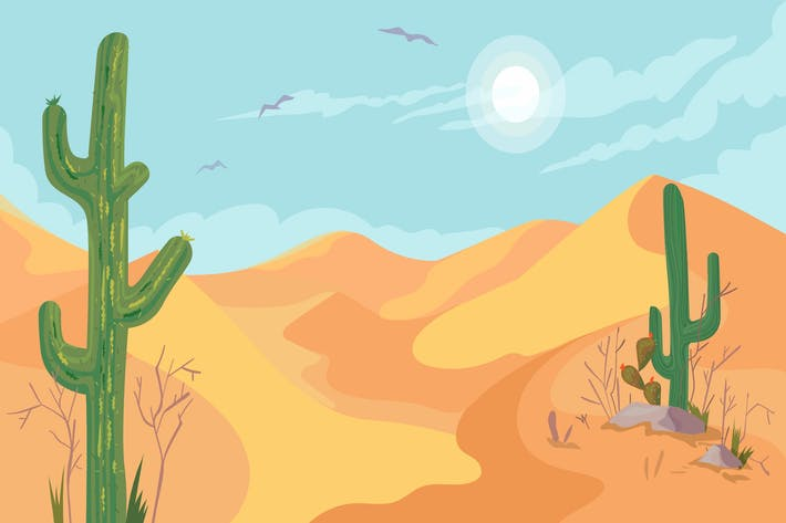 Thumbnail for Desert - Illustration Hintergrund