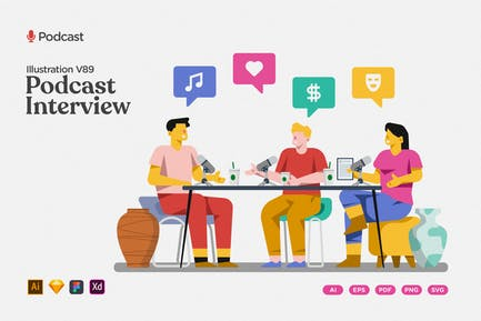 Podcast Illustration - Interview Channel