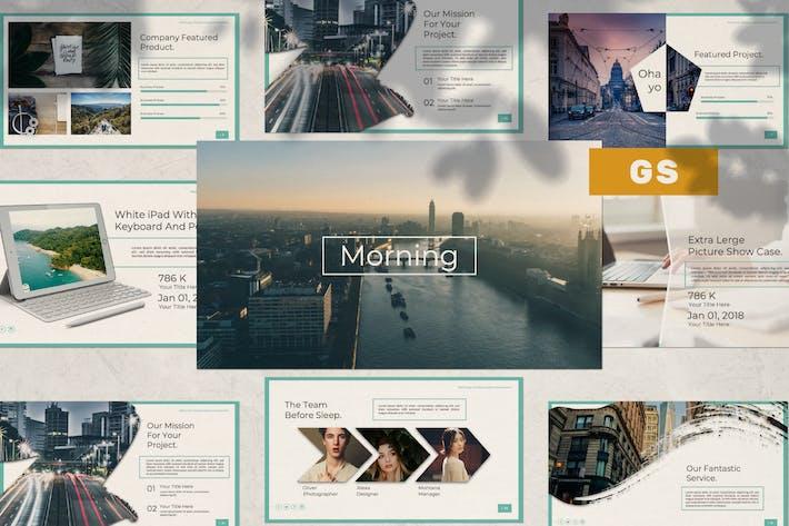 Thumbnail for Morning Google Slide Template