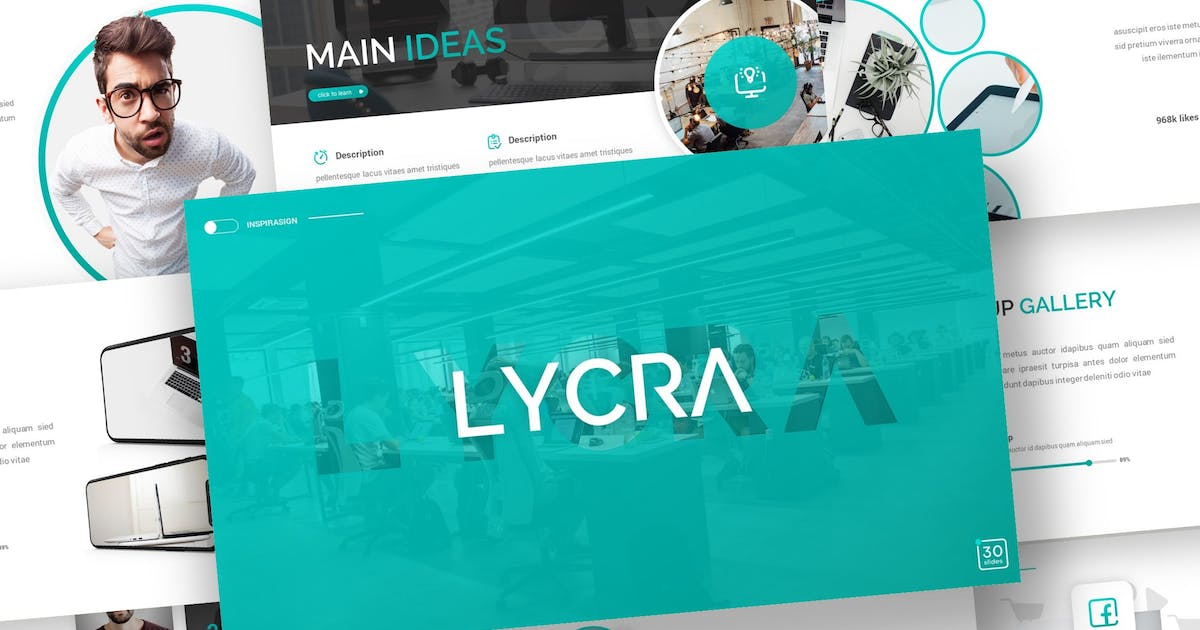 Download Lycra - Business Powerpoint Template by inspirasign
