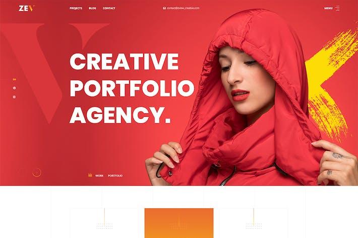 Zev - Creative Personal Réalisations modèle PSD.