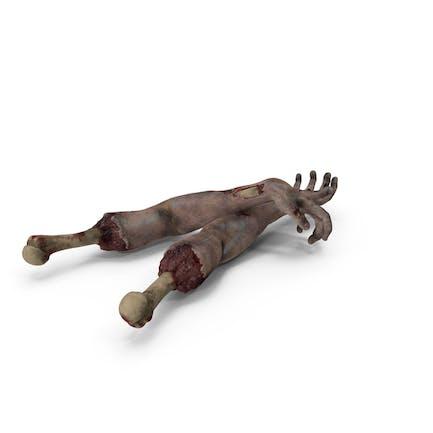 Unheimliche Zombie Hände