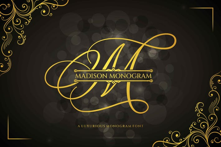 Madison Monogram Font