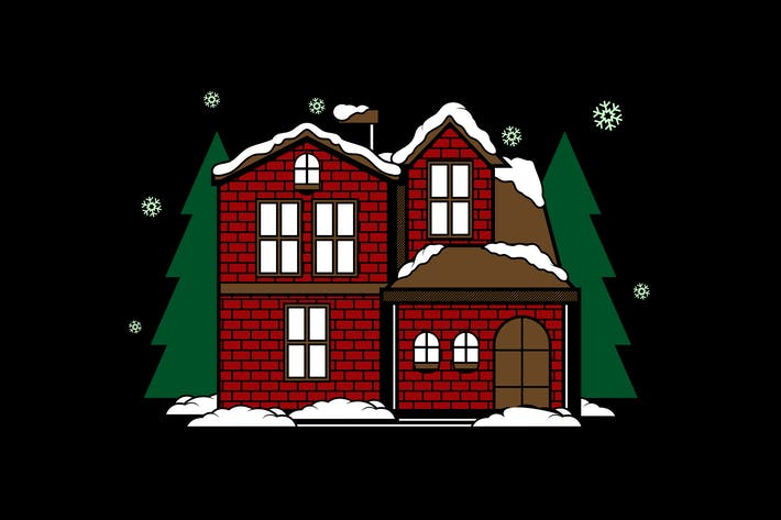 Cover Image For Christmas House Illustration