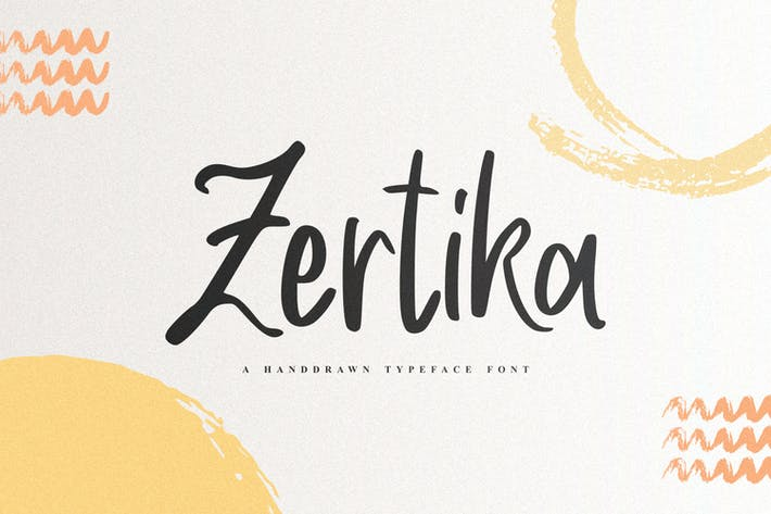 Thumbnail for Zertika - A Handdrawn Typeface Font