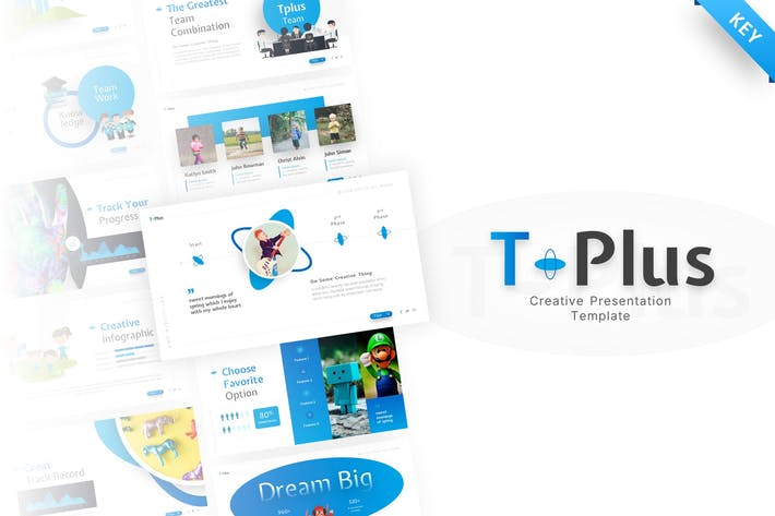 Thumbnail for T-Plus Creative Keynote Template