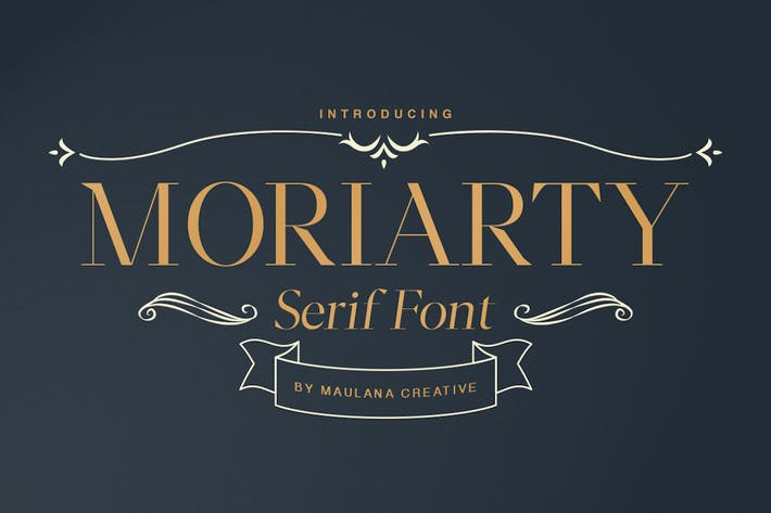Cover Image For Moriarty Serif Font