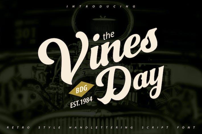 Thumbnail for Vinesday | Retro Style Handlettering Script Font