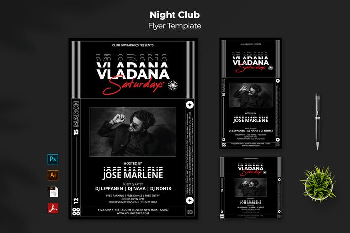 Night Club Flyer - Instagram Post & Stories