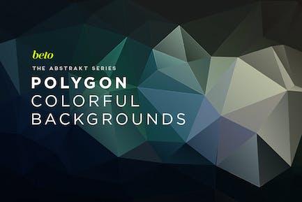 Abstrakte Polygon-Hintergründe V7