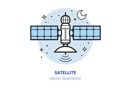 Satellite vector illustration