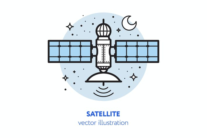 Thumbnail for Satellite vector illustration
