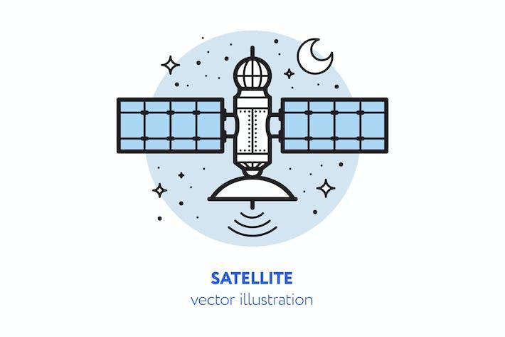 Thumbnail for Satelliten-Vektor Illustration