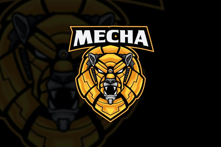 Thumbnail for Mecha Lion Robot Esports Logo Mascot