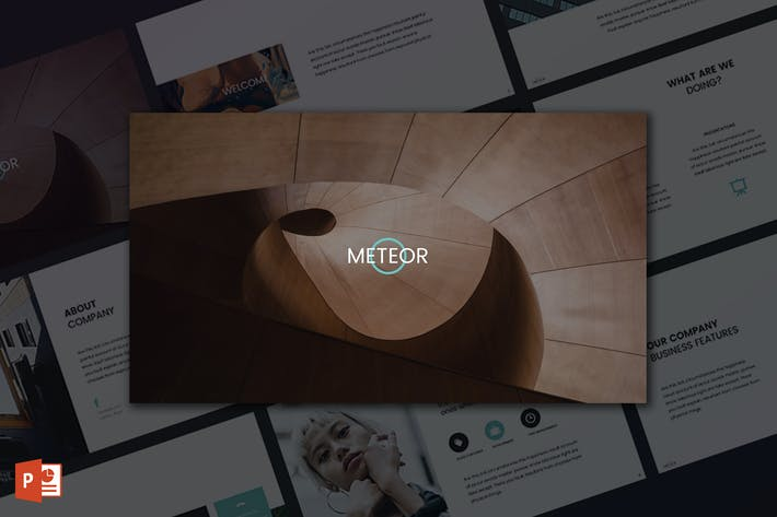 Thumbnail for Meteor PowerPoint Template