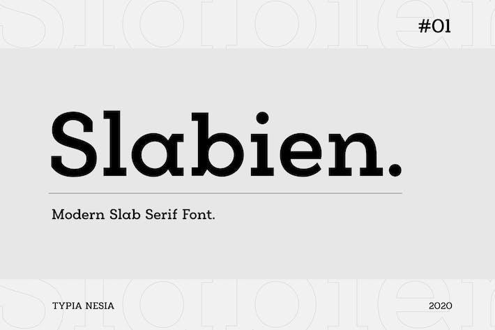 Thumbnail for Slabien - Fuente Slab Con serifa