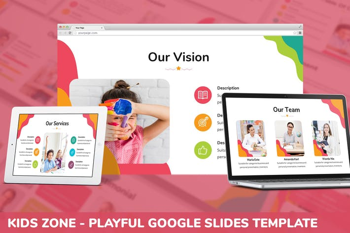 Cover Image For Kids Zone - Playful Google Slides Template