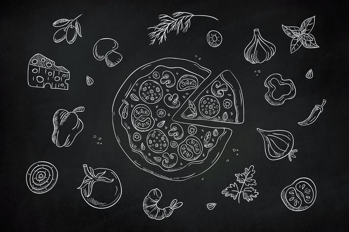 Thumbnail for Drawn Pizza Clipart