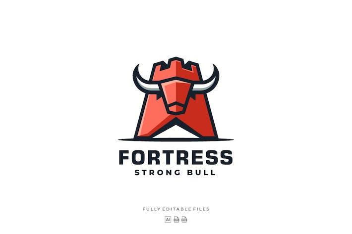 Thumbnail for Fortress and Bull Mascot logo