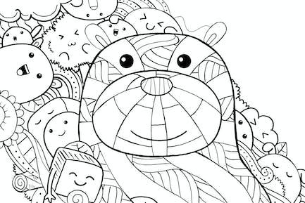 Doodle de oso