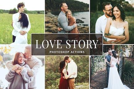 История любви Photoshop Действия