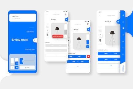 Lifestyle Smart House AGidolag Mobile UI - PP