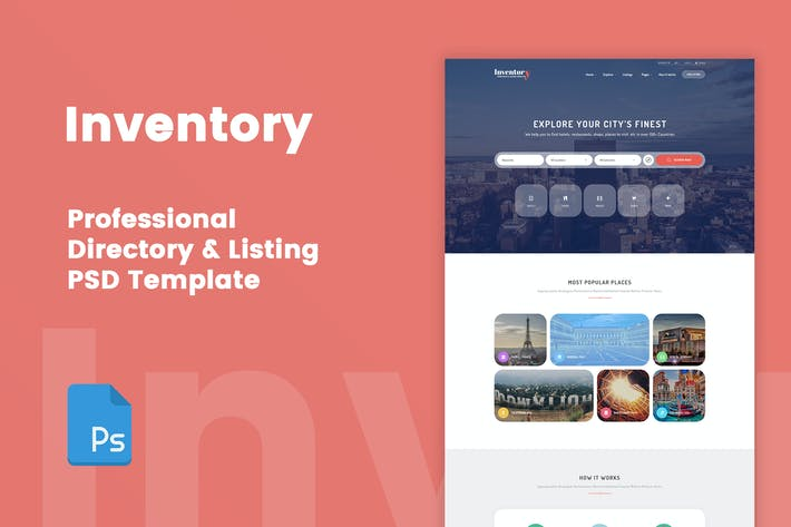 Thumbnail for Inventory - Directory & Listing PSD Template
