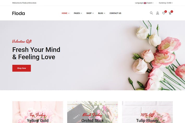 Thumbnail for Floda – Flower Shop HTML Template