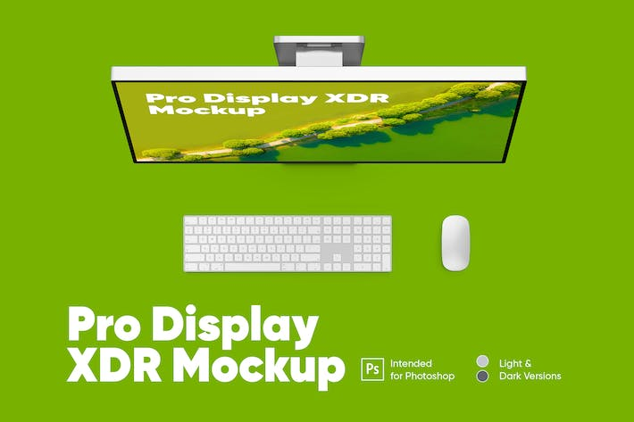 Thumbnail for Pro Display XDR (Licht & Dunkel) Mockup