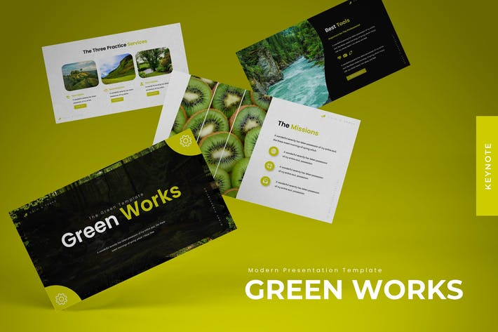 Thumbnail for Green Works - Keynote Template