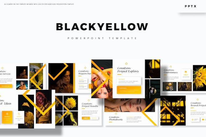 Thumbnail for Черный желтый - Шаблон Powerpoint