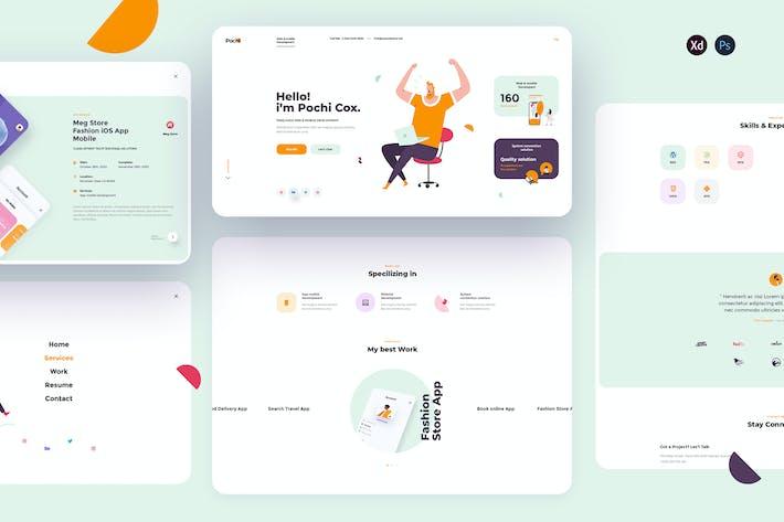 Pochi-Personal Portfolio landing page template