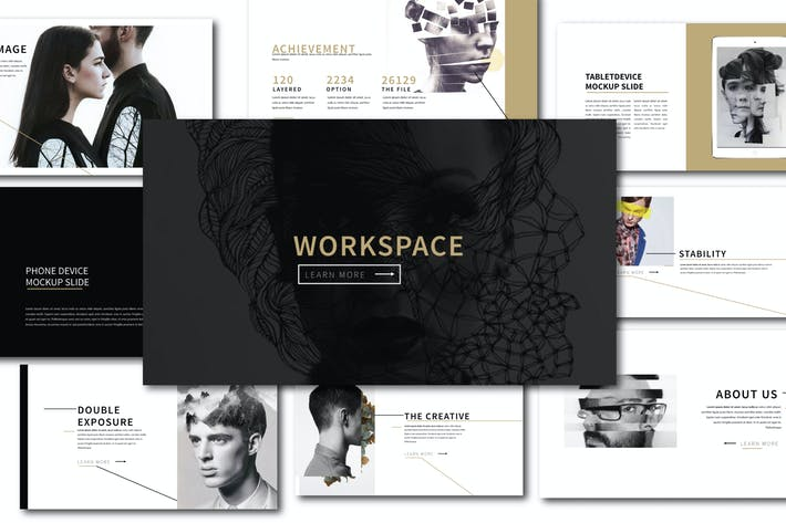 Cover Image For Workspace Clean Keynote Template