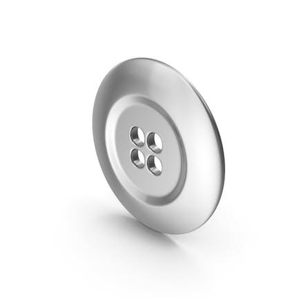 Ring Cloth Button Silver