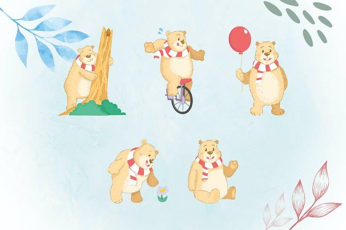 Thumbnail for Whimsical Animal Illustrations BEAR