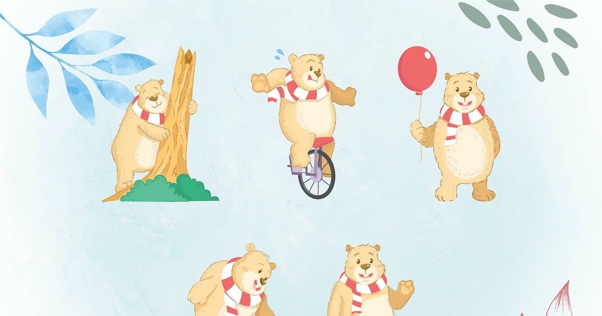 Download Whimsical Animal Illustrations BEAR by uicreativenet