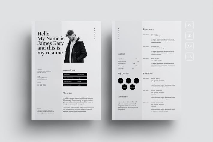 Thumbnail for Minimal Resume CV Template